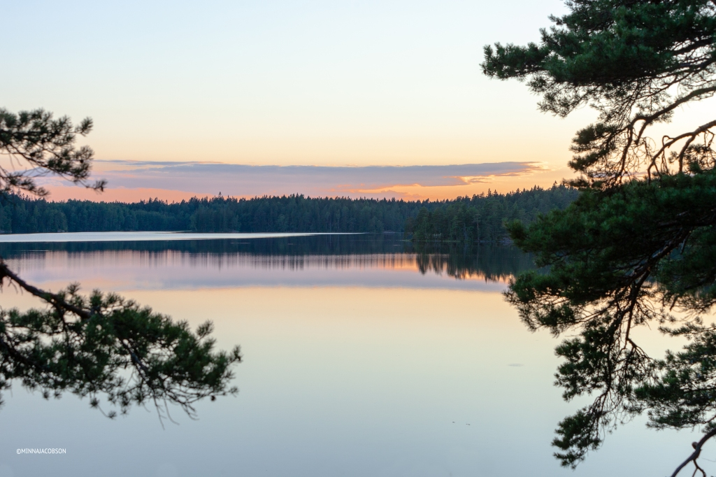 Lake Meikojärvi, sunset summer 2020