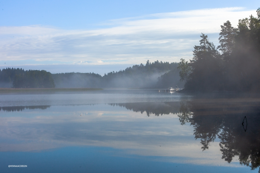 Misty reflection, Lohjanjärvi, Lohja Finland