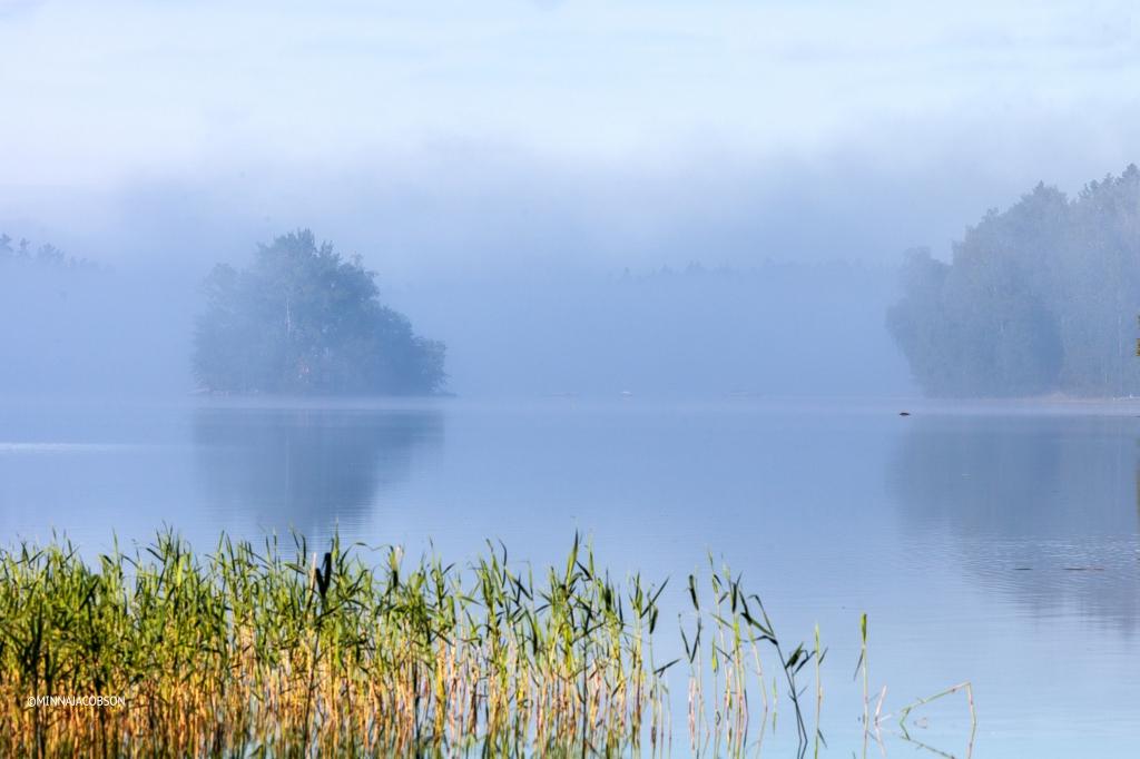 Misty lake view, Lohja Finland